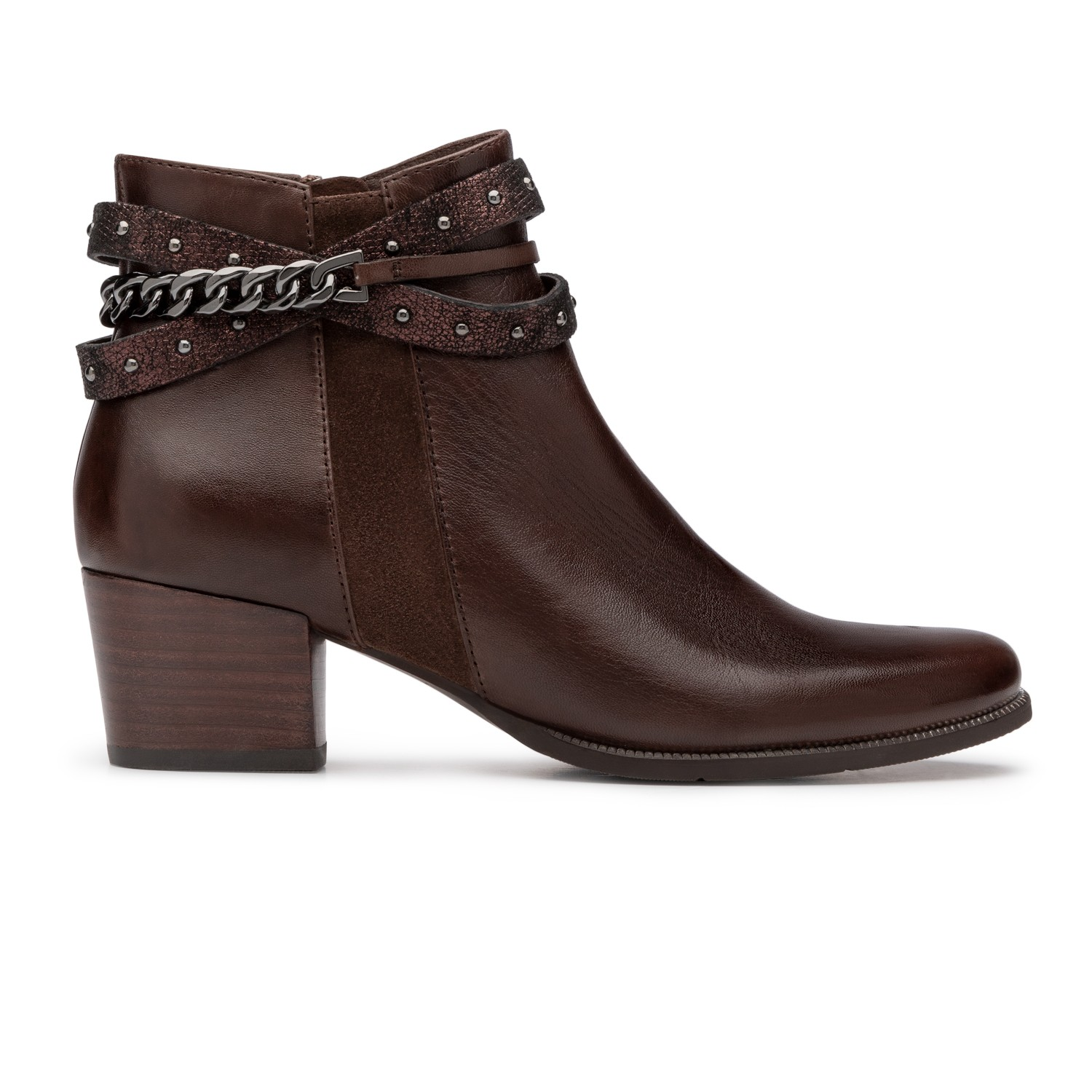 Le Taupe isabel-52 taupe ankle boot in leather for women - regarde le ciel