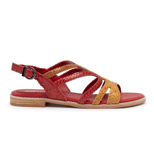 ZEMES-01 Yellow / Red / Cuoio